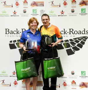 Seniors Masters champs Sharyn Crouchen & Darrin Comrie Qld State Champs May 2018, Pic Lyn Fletcher